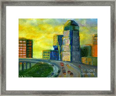 Abstract City Downtown Shreveport Louisiana Framed Print
