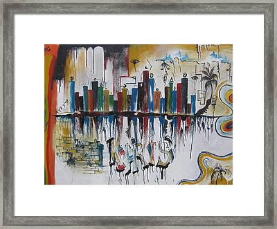 Abstract City Life Framed Print