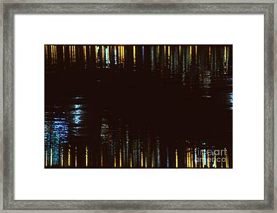 Abstract City Lights Framed Print