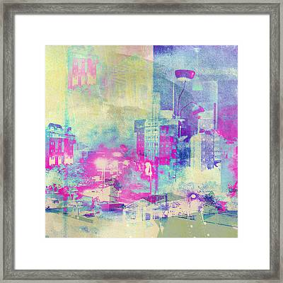 Abstract City Framed Print by Mark-Meir Paluksht
