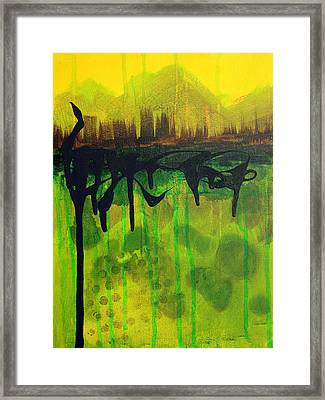 Abstract Cityscape Skyline Framed Print
