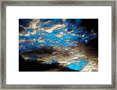 Abstract Clouds Framed Print by Claudia Ellis