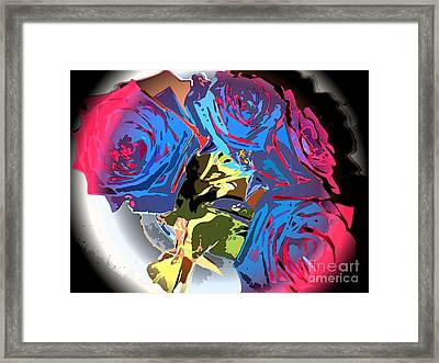 Abstract Cluster Of Roses Framed Print by Minding My  Visions by Adri and Ray