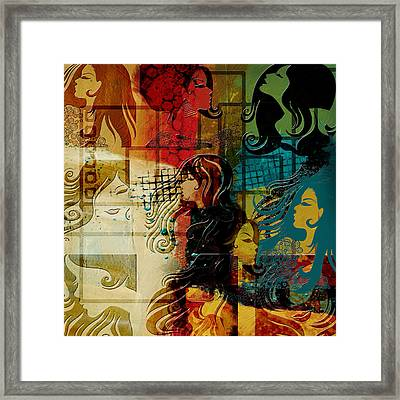 Abstract Collage 01 Framed Print by Corporate Art Task Force