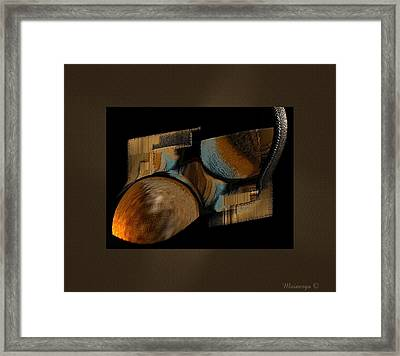 Abstract Collage Framed Print by Ines Garay-Colomba