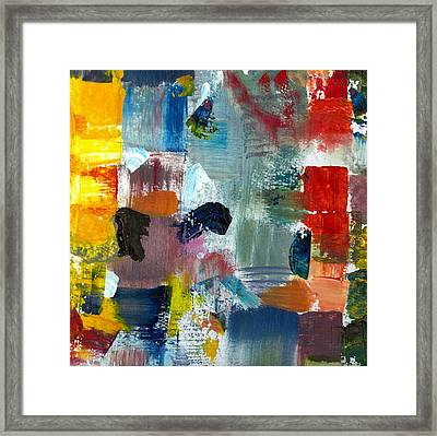 Abstract Color Relationships Lv Framed Print by Michelle Calkins