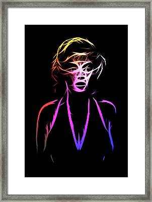 Abstract Colorful Monroe Framed Print by Steve K