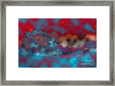 Abstract Colorful Snow Day Framed Print