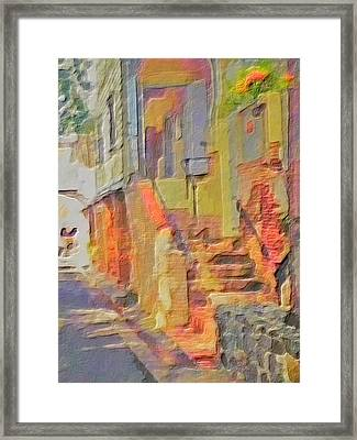 Abstract Comanche Steps - Vertical Framed Print