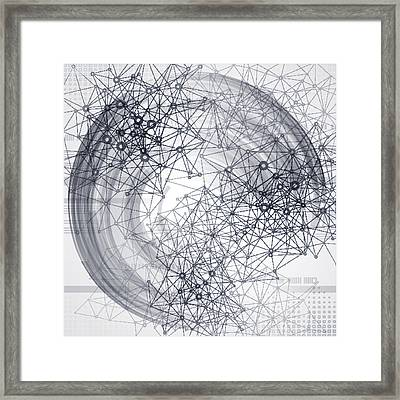 Abstract Communication Technology Framed Print by Derrrek