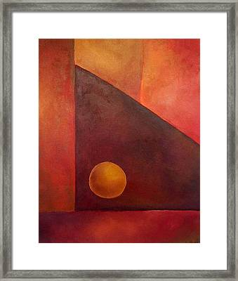 Abstract Composition Framed Print by Kim Cyprian
