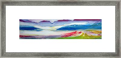 Abstract Composition Framed Print by Lou Gibbs
