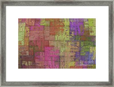 Abstract Printed Circuit Framed Print by Michal Boubin