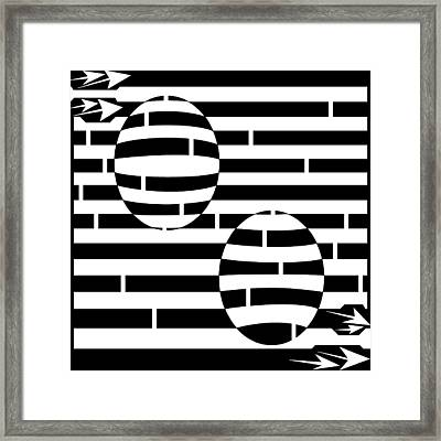 Abstract Concave Convex Maze  Framed Print by Yonatan Frimer Maze Artist