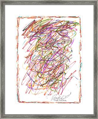 Abstract Confetti Celebration Framed Print by Joseph Baril