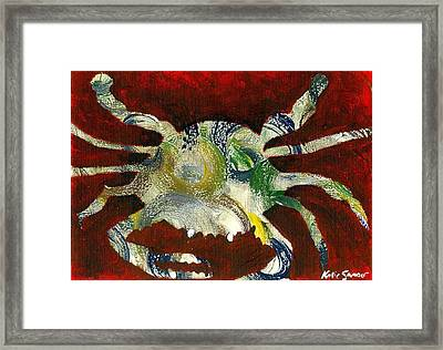 Abstract Crab Framed Print