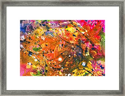 Abstract - Crayon - The Excitement Framed Print