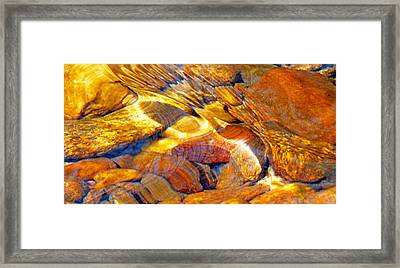 Abstract Creek Water 4 Framed Print