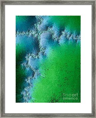 Abstract Cross Ill  Framed Print