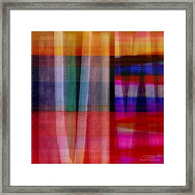 Abstract Cross Lines I Framed Print by Joost Hogervorst
