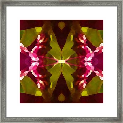 Abstract Crystal Butterfly Framed Print by Amy Vangsgard