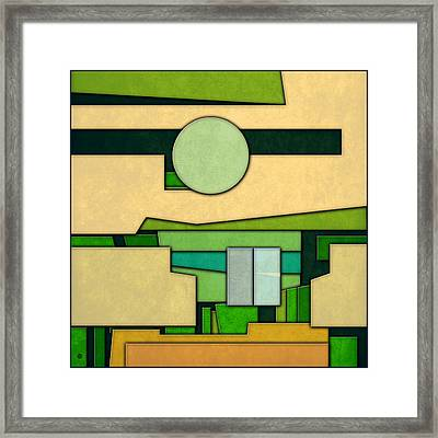 Abstract Cubist Three Framed Print