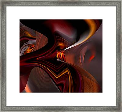 Abstract - Dark Passages Framed Print