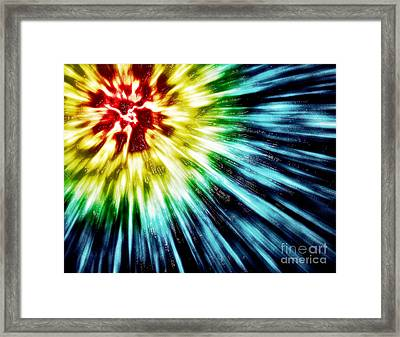 Abstract Dark Tie Dye Framed Print