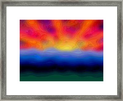Abstract Dawn Framed Print