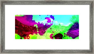 Abstract Desert Scene Framed Print by Alan and Marcia Socolik