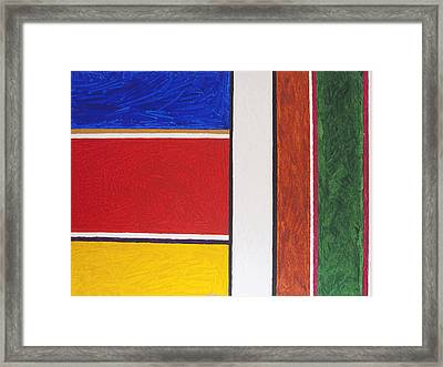 Abstract Rectangles Framed Print by Stormm Bradshaw