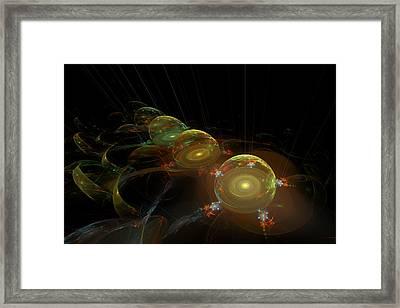 Abstract Digital Fractal Dome Image Black Modern Art Framed Print by Keith Webber Jr