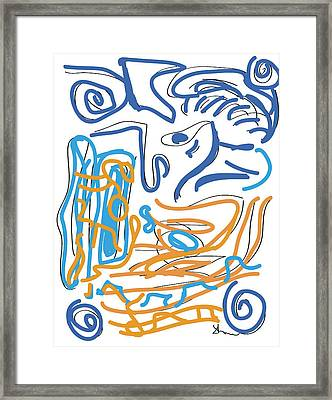 Abstract Digital Framed Print