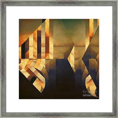 Abstract Dimension Framed Print by Lonnie Christopher