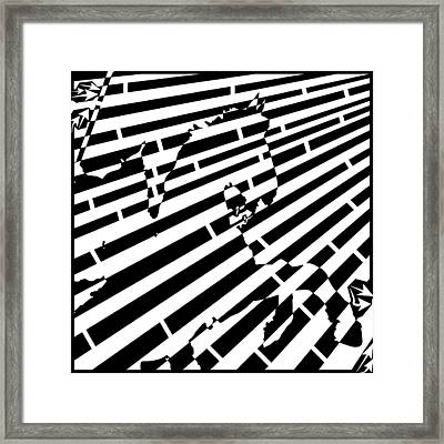 Abstract Distortion Cavalry Maze  Framed Print by Yonatan Frimer Maze Artist