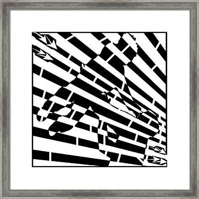 Abstract Distortion Childhood Joy Maze Framed Print by Yonatan Frimer Maze Artist