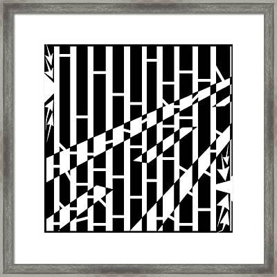 Abstract Distortion Driving Road Maze  Framed Print by Yonatan Frimer Maze Artist