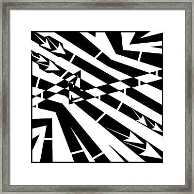 Abstract Distortion Fuel Line Maze Framed Print by Yonatan Frimer Maze Artist