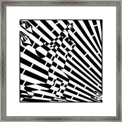 Abstract Distortion Guitar Smasher Maze Framed Print by Yonatan Frimer Maze Artist