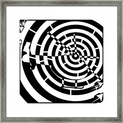 Abstract Distortion Helicopter Maze Framed Print by Yonatan Frimer Maze Artist
