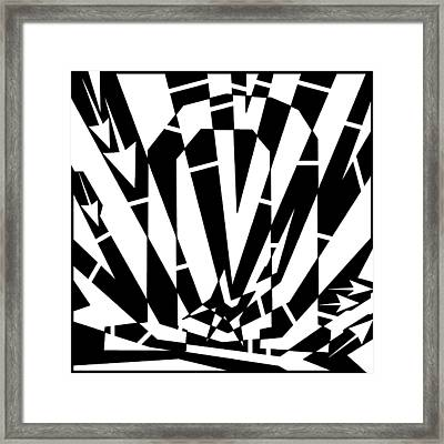 Abstract Distortion Horse Shoe Magnet Framed Print by Yonatan Frimer Maze Artist