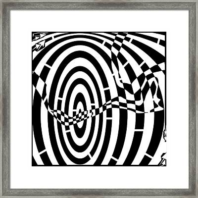 Abstract Distortion Loose Wires Maze  Framed Print by Yonatan Frimer Maze Artist