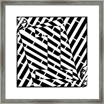 Abstract Distortion Number One Maze Framed Print by Yonatan Frimer Maze Artist