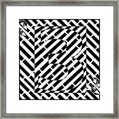 Abstract Distortion Number Three Maze  Framed Print by Yonatan Frimer Maze Artist