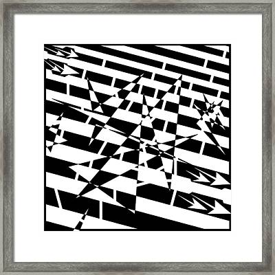 Abstract Distortion Of Weakly Interactive Massive Particles Maze  Framed Print by Yonatan Frimer Maze Artist