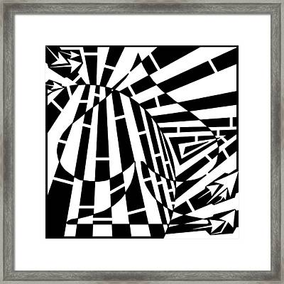 Abstract Distortion Spade Maze  Framed Print by Yonatan Frimer Maze Artist
