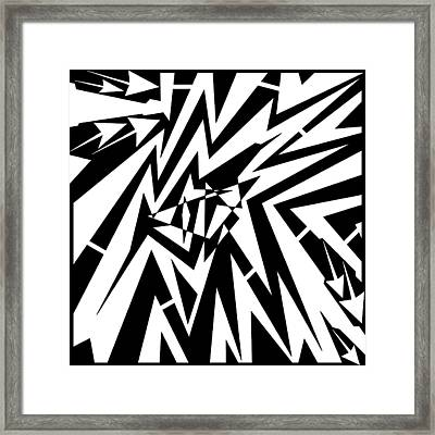 Abstract Distortion Tear In Time Space Maze  Framed Print by Yonatan Frimer Maze Artist