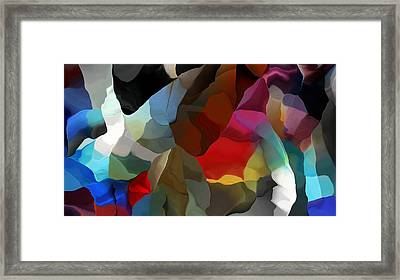 Framed Print featuring the digital art Abstract Distraction by David Lane