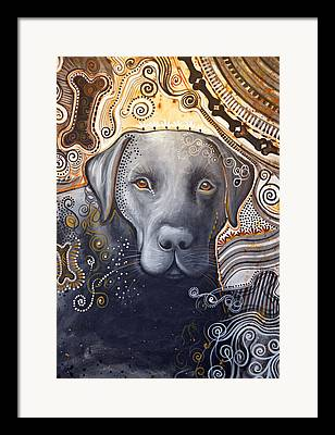 Abstract Of Dogs Framed Prints