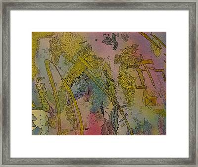 Abstract Doodle Framed Print